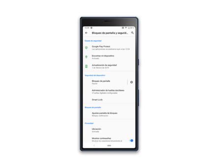 Sony Xperia 10 Plus Ajustes Bloqueo