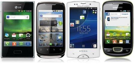 Cuatro smartphones por menos de 140 euros para utilizar en las empresas