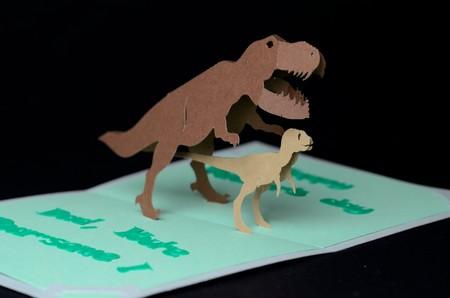 Manualidades Dinosaurios Tarjeta