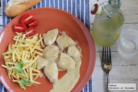 pollo en salsa de pimienta casera