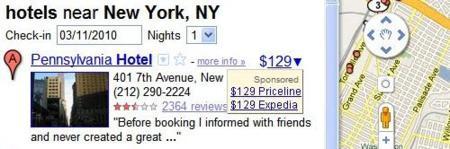 Google Maps experimenta integrando los precios de los hoteles en el servicio