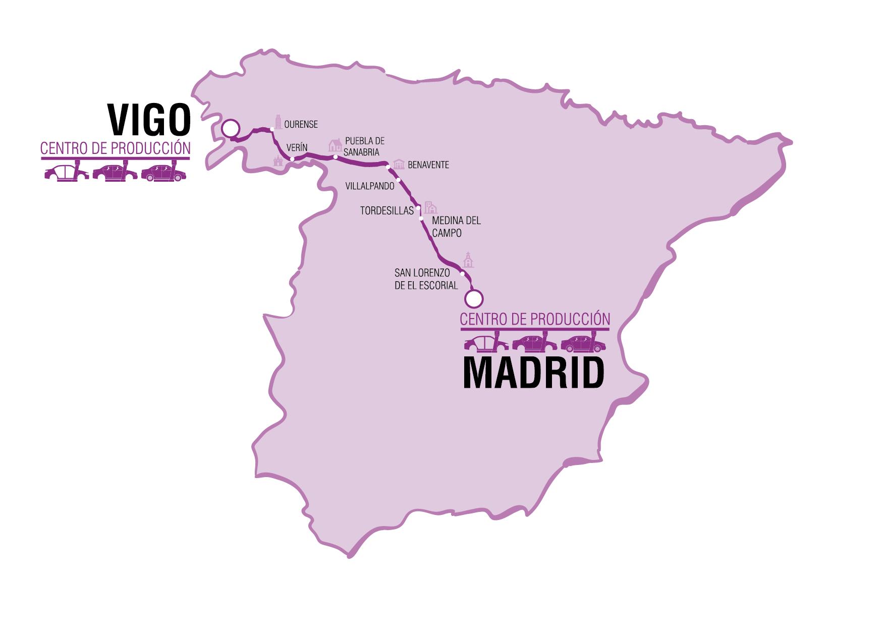 Ma ana un coche aut nomo de psa ir de vigo a madrid - Donde alojarse en galicia ...