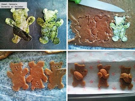 Preparación galletas osito
