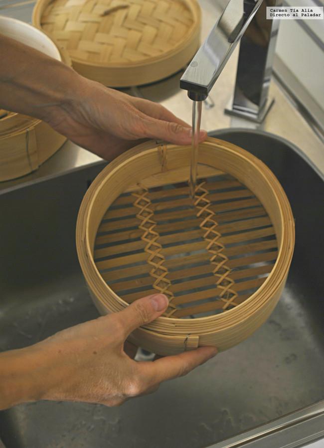 Vaporera De Bambu Enjuagar