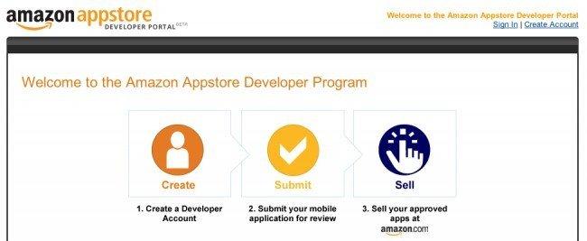 amazon acepta ya apps en su tienda android