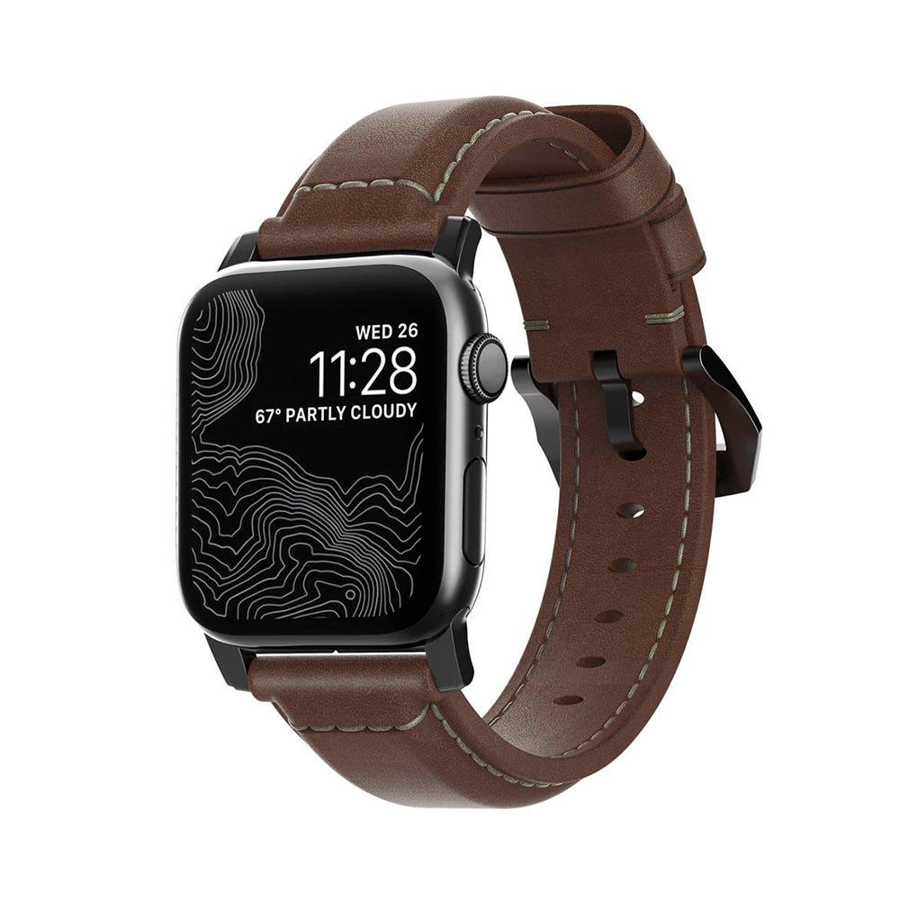 Nomad Traditional Strap Correa Apple Watch 42mm/44mm Marrón (hebilla negra)