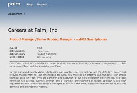 Palm recluta jefe de producto para sus smartphones webOS y juega al despiste
