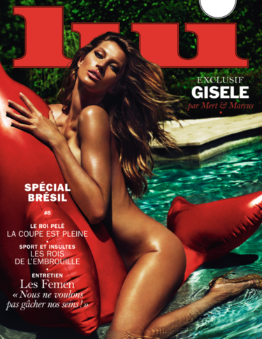 Gisele Bündchen, desnuda en la piscina para la revista LUI