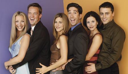 El reparto de Friends feliz