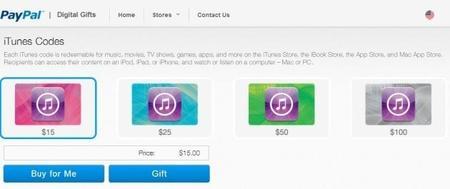 Ahora puedes comprar tarjetas de iTunes vía PayPal
