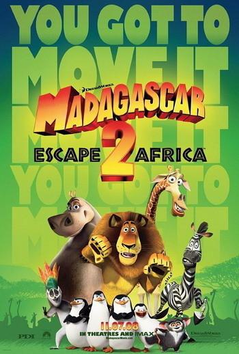 'Madagascar 2: Escape 2 Africa', póster
