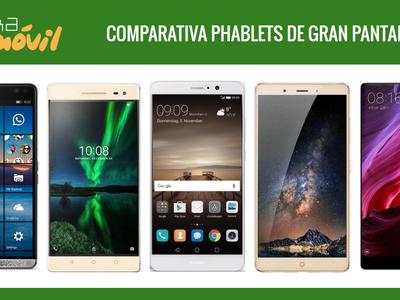 Comparativa de phablets con pantallas gigantes en todas las gamas de precio frente al Huawei Mate 9