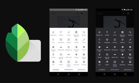 Cómo activar el nuevo tema oscuro de Snapseed para Android