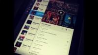 Primera imagen de lo que podría ser la aplicación oficial de Spotify para iPad