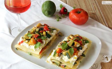 lasaña de verduras sin horno