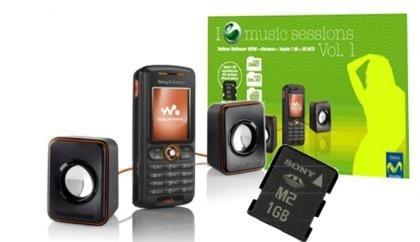Movistar y Sony Ericsson lanzan un pack del W200i con altavoces y tarjeta de memoria