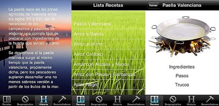 Paella&Arroz, recetas de arroces en el iPhone