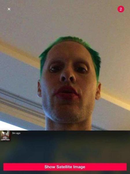 Jared Leto se hace un selfie como el Joker