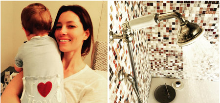 """La increíble confesión de la actriz Jessica Biel: come en la ducha para tener un momento de """"madre sin interrupciones"""""""