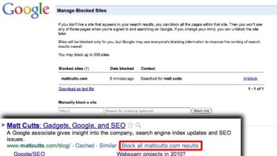 Google permitirá bloquear sitios en su buscador sin necesidad de complementos