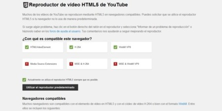 Youtube HTM5