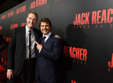 Lee Child con Tom Cruise