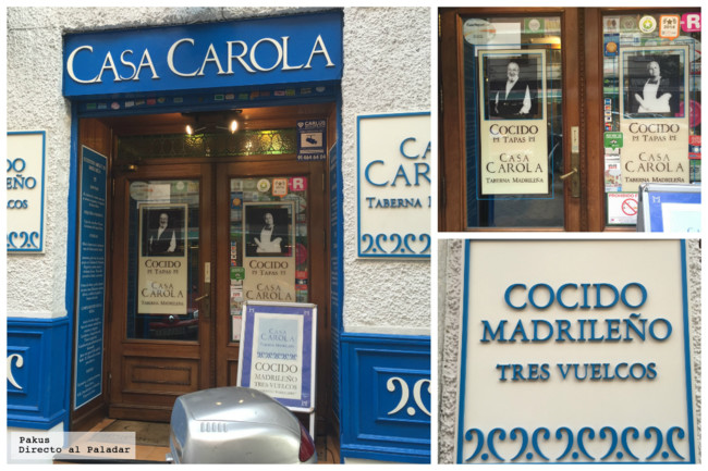 Casa Carola, barra libre de cocido madrileño