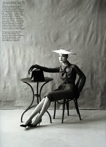 Natalia Vodianova para Vogue US, de Dior