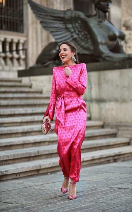 Combinar Vestido Rosa Zapato Bolso 11