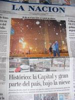 Nieve en Buenos Aires