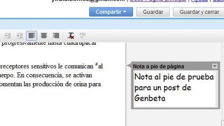 Google Docs incorpora notas a pie de página