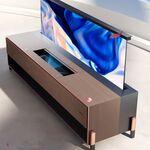 Así de impresionante luce el nuevo sistema Láser TV de Hisense: con pantalla enrollable, proyector láser y sonido Harman Kardon
