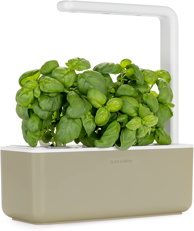 Click & Grow Smart Garden with 3 Basil Cartridges, Barro