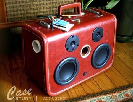 Una maleta altavoz, para irse con la música a otra parte