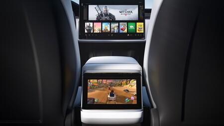 Tesla Model X 2021 Interior Trasera