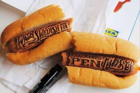 Bellas caligrafías sobre alimentos por Rob Draper