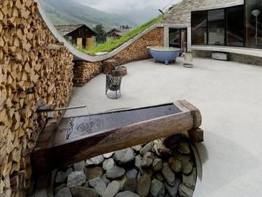 Una espectacular casa en los Alpes Suizos, Villa Vals