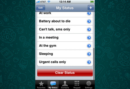"""Cuando WhatsApp no era una app de mensajería, sino una app de estados para tu agenda """"inteligente"""""""