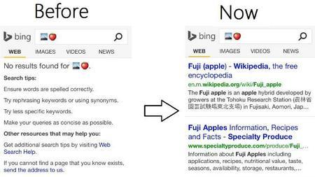 Bing añade soporte para emojis en su buscador