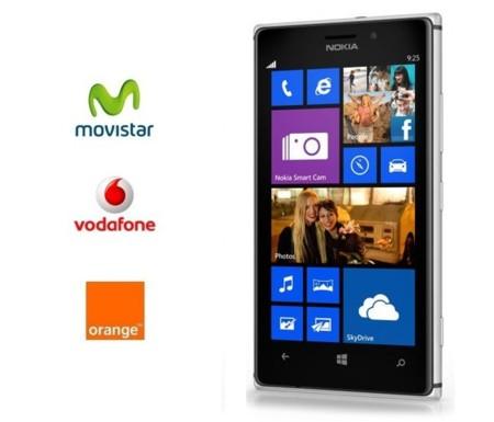 Precios Nokia Lumia 925 con Movistar, Vodafone y Orange