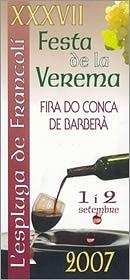 Festa de la Verema 2007, de l'Espluga de Francolí