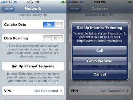 iPhone OS 4: El tethering en la beta 4