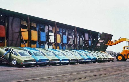 Curiosidades del transporte de coches: el Chevrolet Vega y los trenes Vert-A-Pac