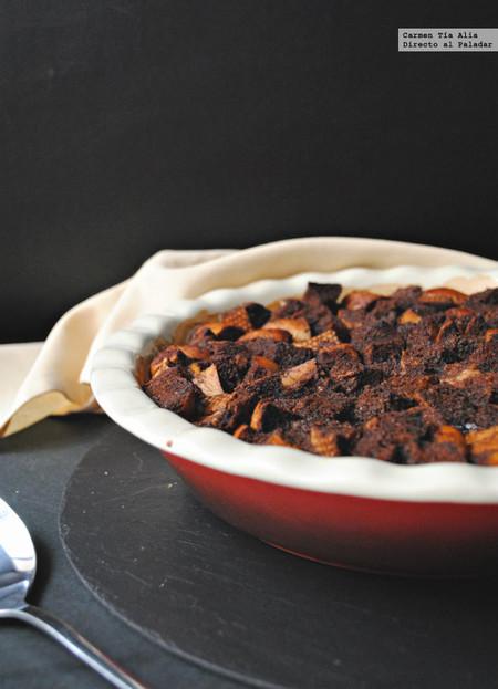 Pudin de roscón con cacao