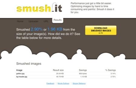 Smush.it, optimizando nuestras imágenes para la web