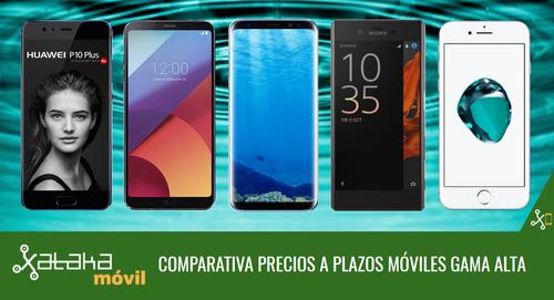 Mejor precio móviles gama alta a plazos con operadores: Galaxy S8, Xperia XZ Premium, LG G6 y más