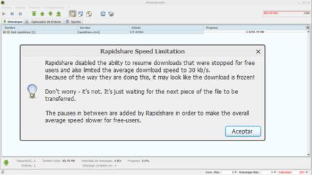 RapidShare impone serias limitaciones a las cuentas gratuitas: ¿perdemos a otro de los grandes?
