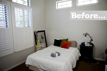 Antes y después: acondicionando un dormitorio para un adolescente