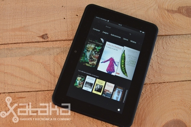 Kindle Fire HD análisis xataka con libros