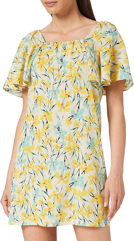 Vestido de Sisley con estampado de flores